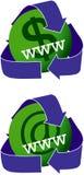 Ícones verdes dos Web site Fotografia de Stock Royalty Free