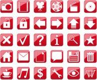 Ícones vermelhos Ilustração Stock