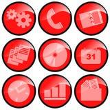Ícones vermelhos Fotografia de Stock Royalty Free