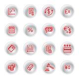 Ícones vermelhos do dinheiro Imagem de Stock