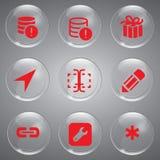 Ícones vermelhos do vetor ajustados Imagem de Stock Royalty Free