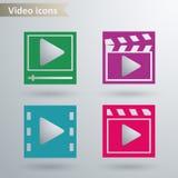 Ícones video Foto de Stock Royalty Free