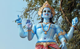 Ídolo de dios hindú Vishnu Imagen de archivo