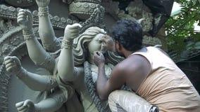 Ídolo de la arcilla de la diosa Durga metrajes