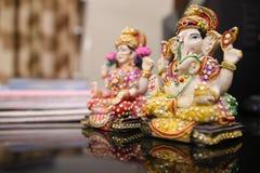 Ídolo de Lakshmi de Lord Ganesha y de la diosa fotos de archivo libres de regalías