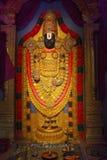 Ídolo de Lord Tirupati Balaji, durante el festival de Ganapati Imagen de archivo