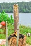Ídolo de madeira fotos de stock royalty free