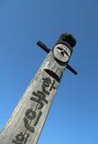 Ídolo de madeira - Jangseung Foto de Stock