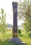 Ídolo de madeira Perun Fotos de Stock