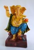Ídolo de piedra de dios indio Ganesha Foto de archivo libre de regalías