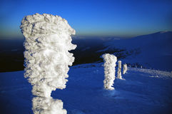 Ídolo del hielo en las montañas cárpatas Imagen de archivo