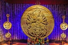 Ídolo Durga Puja Festival Calcutta de Durga de la diosa Foto de archivo libre de regalías