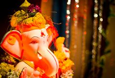 Ídolo hermoso de Lord Ganesh fotografía de archivo libre de regalías