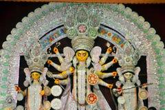 Ídolo hindú de la diosa en Pandal, templo temporal para Fotos de archivo libres de regalías