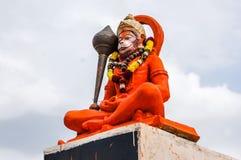 Ídolo hindu de Hanuman do deus, estátua enorme do senhor indiano Hanuman imagens de stock royalty free