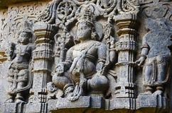 Ídolo maravillosamente tallado de dios, templo de Vitthal, Kolhapur, maharashtra foto de archivo
