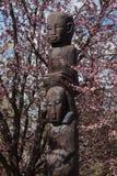 Ídolos de tierra africanos de la región de Congo imágenes de archivo libres de regalías