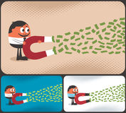 Ímã do dinheiro Imagens de Stock Royalty Free