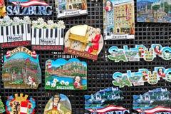 Ímãs da lembrança em Salzburg Fotografia de Stock