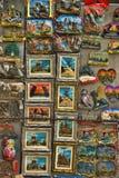 Ímãs das lembranças com vistas de St Petersburg Imagem de Stock Royalty Free