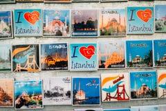 Ímãs do refrigerador em Istambul Foto de Stock