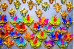 Ímãs Venetian pequenos Veneza Itália das máscaras Foto de Stock