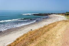 Índia bonita da praia, Goa Fotografia de Stock