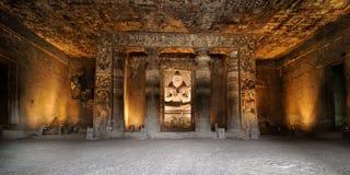 Índia, caverna de Ajanta Fotografia de Stock