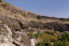 Índia, caverna de Ajanta Imagem de Stock