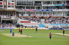 Índia contra Inglaterra em senhores Foto de Stock Royalty Free