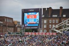 Índia contra Inglaterra em senhores Imagens de Stock