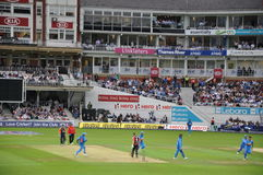 Índia contra Inglaterra em senhores Fotos de Stock Royalty Free