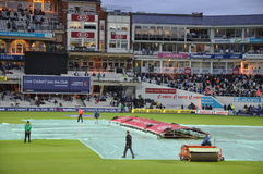 Índia contra Inglaterra em senhores Fotografia de Stock
