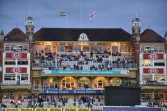 Índia contra Inglaterra em senhores Imagens de Stock Royalty Free