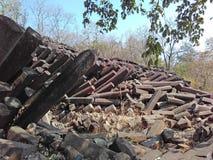 Índia das formações de rocha da coluna do basalto fotos de stock royalty free