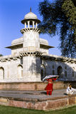 Índia de Agra do túmulo de Itmad-ud-Daulah Imagem de Stock