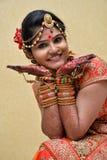 Índia do pose- da flor Fotos de Stock