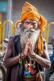 Índia do sadhu da serpente fotografia de stock royalty free