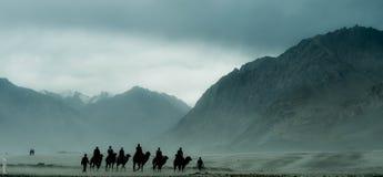 Índia do vale de Nubra! Fotos de Stock Royalty Free