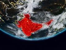 Índia durante a noite ilustração stock