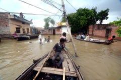 Índia inundada imagens de stock royalty free