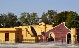 Índia mantar de Jaipur Rajasthan do obervatório de Jantar Fotos de Stock Royalty Free