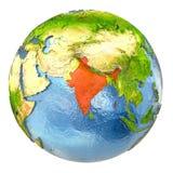 Índia no vermelho na terra completa ilustração royalty free