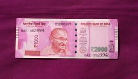 A Índia proibiu a nota velha de 500 e 1000 rupias Fotos de Stock