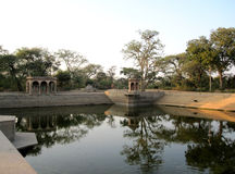 Índia que banha a lagoa Kund Fotografia de Stock
