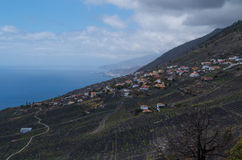 Índias de Las e linha litoral, La Palma, Ilhas Canárias, Espanha Foto de Stock Royalty Free
