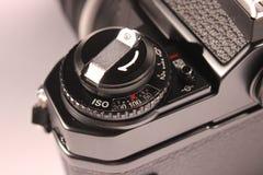 índice da Filme-velocidade na câmera análoga fotografia de stock
