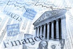 Índice de ações de NYSE e tabela da taxa de câmbio Imagem de Stock Royalty Free