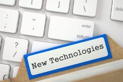 Índice de cartão com novas tecnologias 3d Imagem de Stock Royalty Free