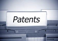 Índice de la carpeta del registro de las patentes foto de archivo